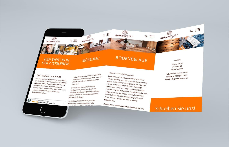 Tischlerei Goer Website mobil